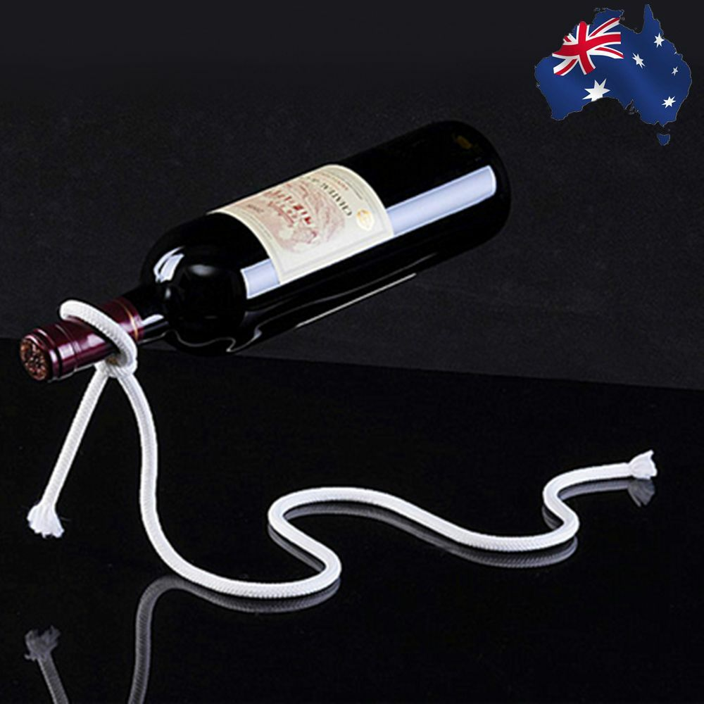 Magic Lasso Rope Wine Bottle Holder Floating Illusion Rack Stand Art HWIHA7405