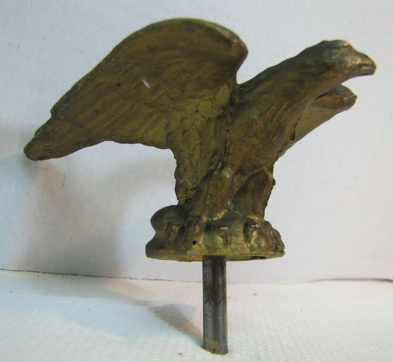 Vintage Figural Eagle Architectural Finial Topper Hardware heavy weighted metal