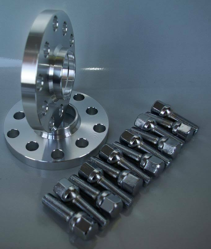 mercedes benz wheel spacers 20mm 5x112 set bolts c cl
