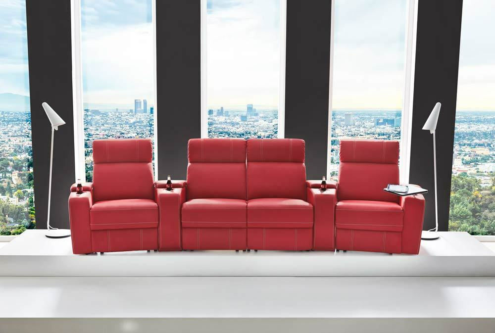 cinema sessel kinosessel fernsehsessel heimkino rot kunstleder neu 24397 eur. Black Bedroom Furniture Sets. Home Design Ideas