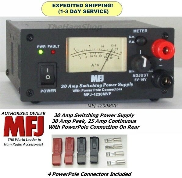 Electronic Equipment Supplies Amp Services : Mfj mvp amp switching power supply with meter
