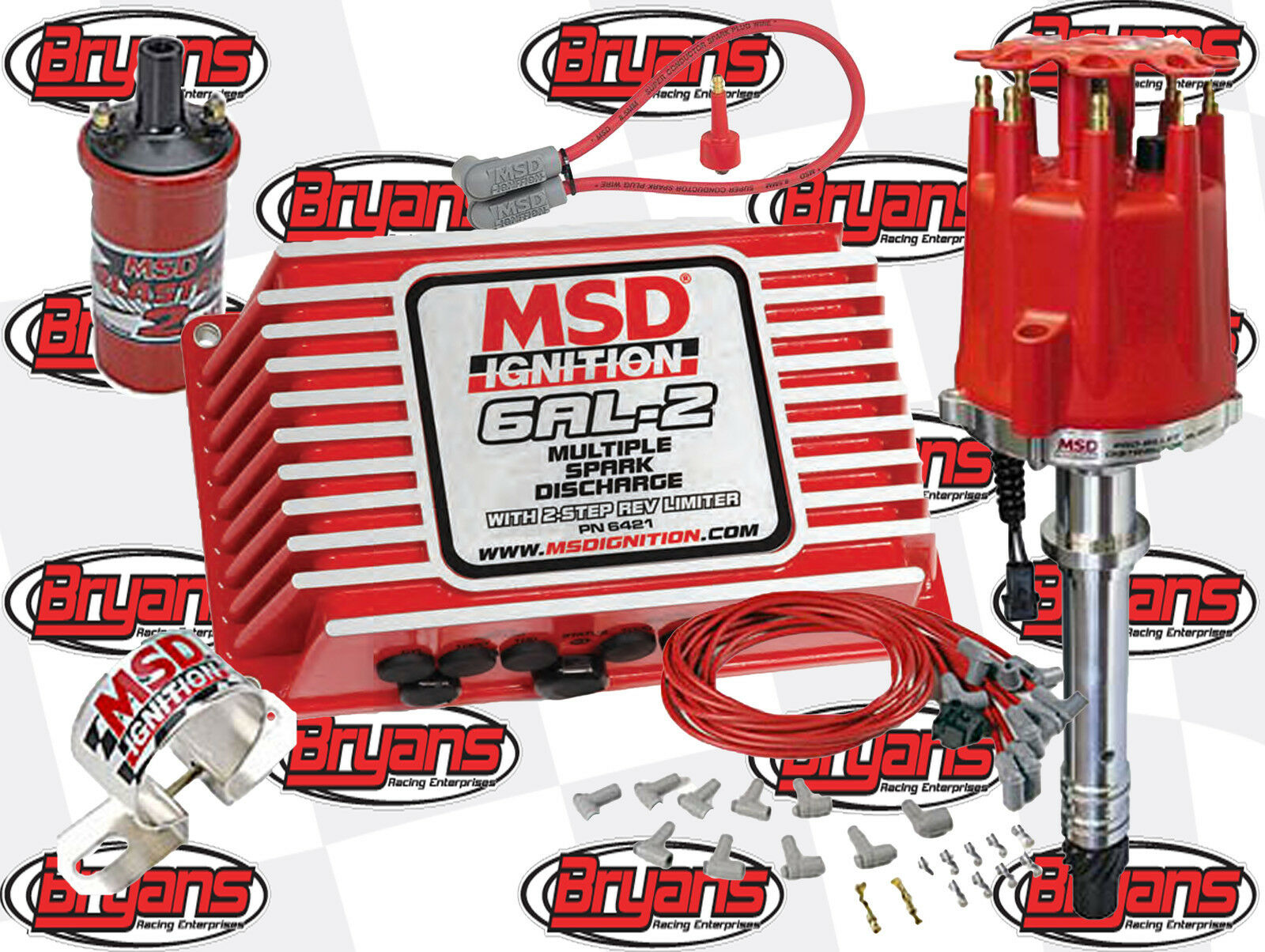 Msd 6421 6al 2 Ignition Kit Small Big Block Chevrolet Coil Wiring For Cylinder Engine Distributor Wires V8 1 Of 12only 5 Available