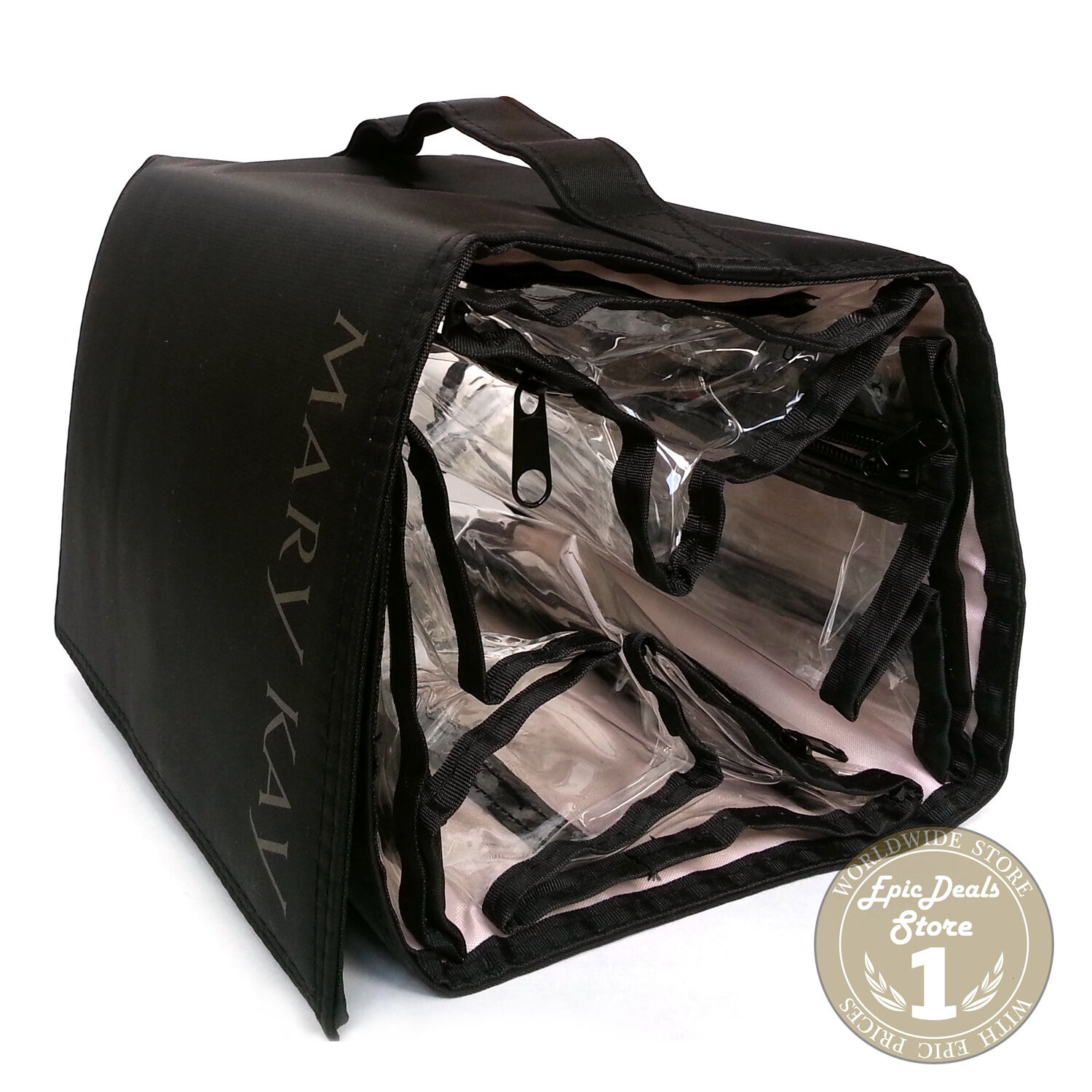 1 Of 4only Available Mary Kay Travel Roll Up Bag Cosmetic Organizer Black Hanging W Removable Pouches