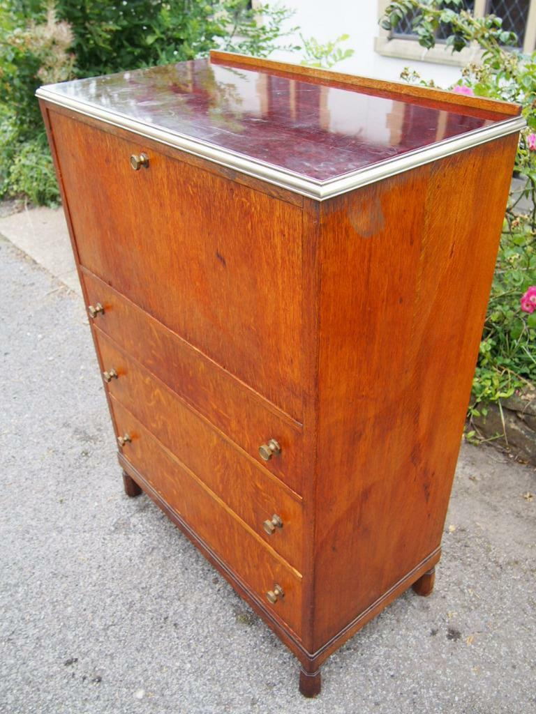 A Stunning Mid Century 1950's Morris of Glasgow Superb Quality Writing Cabinet