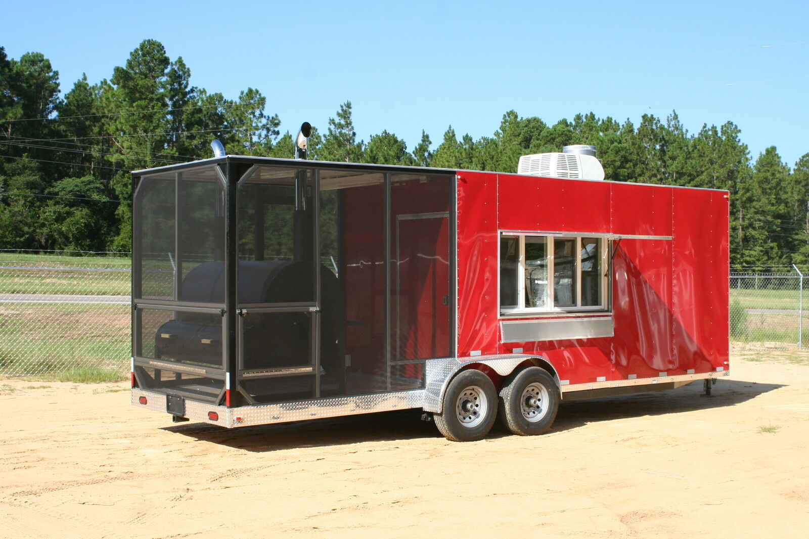 2016 Barbeque Concession Trailer Mobile Kitchen Deluxe Model 35 Picclick