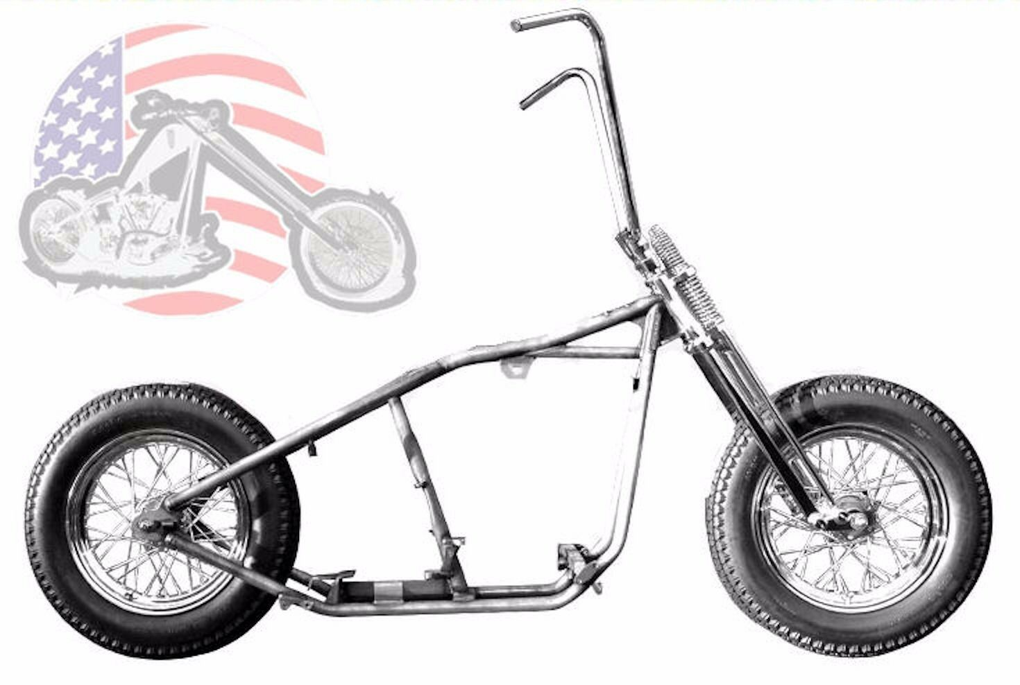 KRAFT TECH CHOPPER Bobber Rigid Hardtail Frame Springer Rolling ...