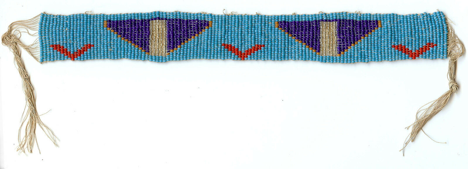 Vintage Native American Indian Woven Beaded Band