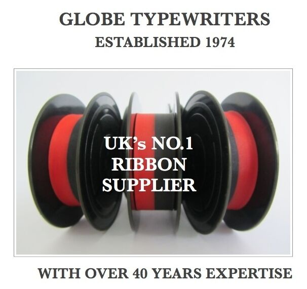 3 x 'OLYMPIA TRAVELLER DELUXE' *BLACK/RED* TOP QUALITY *10M* TYPEWRITER RIBBONS