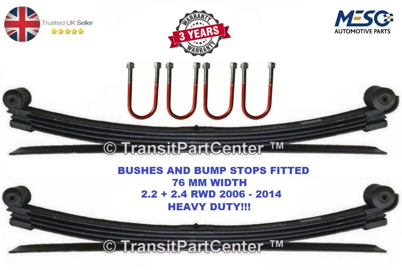Ford Transit Mk7 Modified >> PAIR OF Very Heavy Duty 4+1 Leaf Springs And 4 U Bolts Ford Transit Mk7 2006 On - EUR 385,98 ...