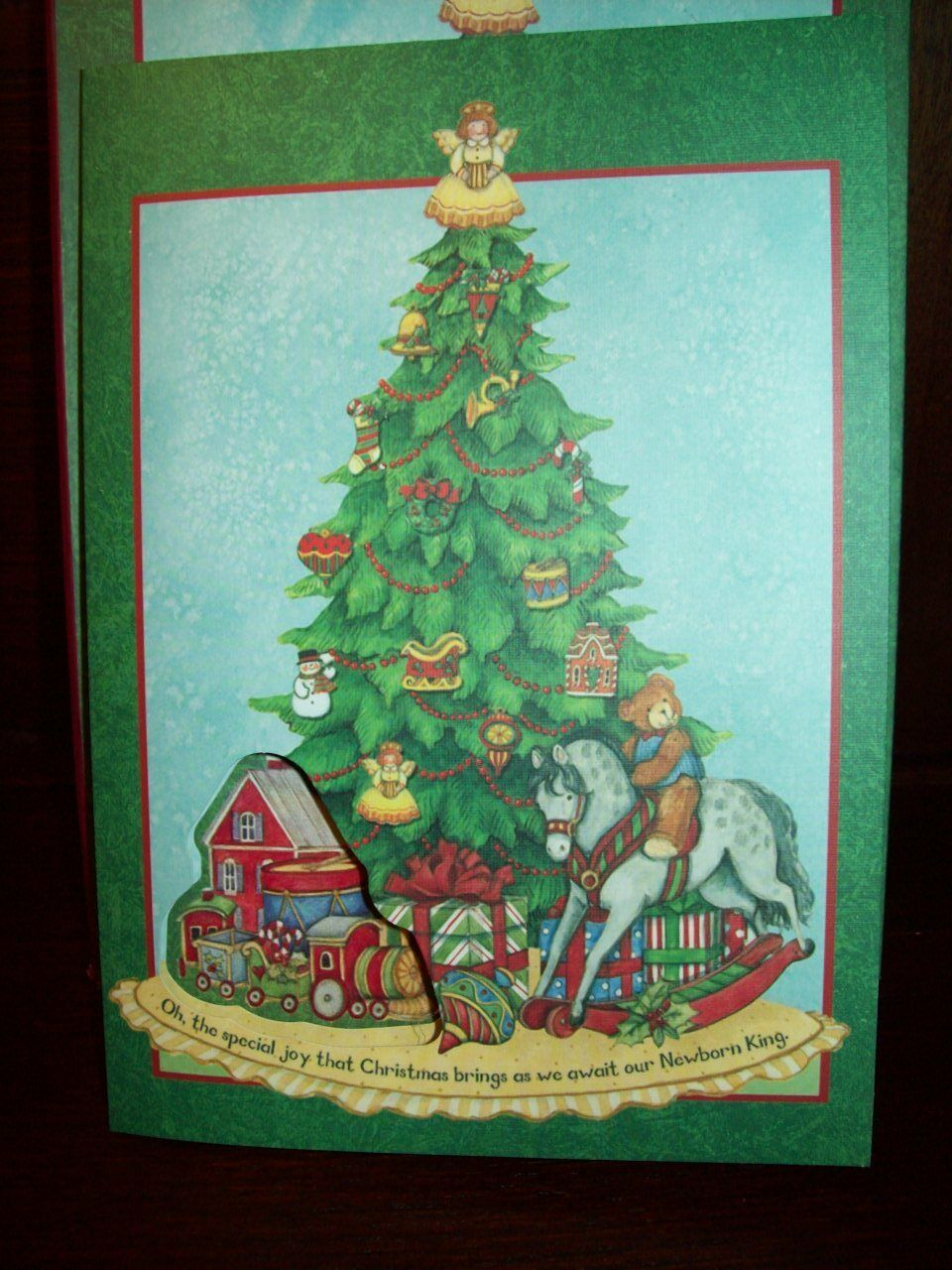 NEW BOXED LANG Susan Winget 8 CT CHRISTMAS TREE CARDS with PEEL ...