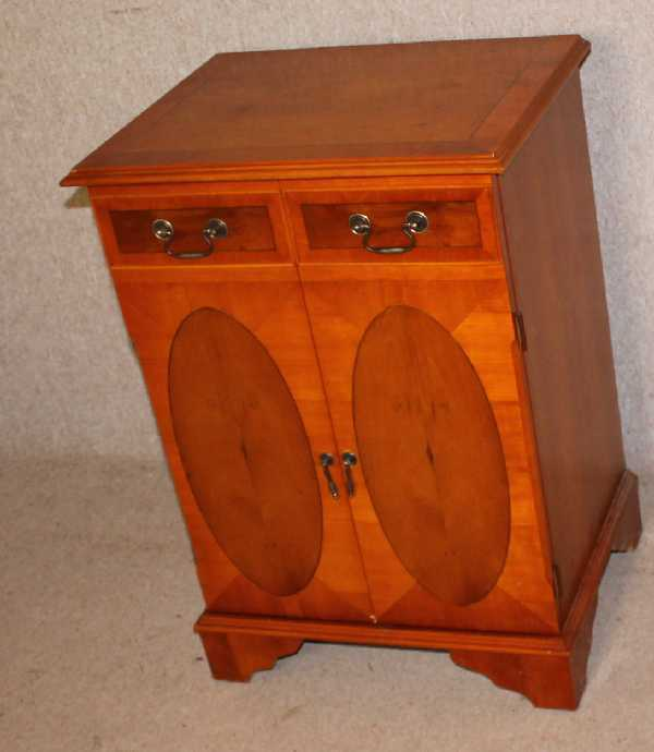 Yew Wood Music Cabinet with drawers and shelves. Variety of uses.