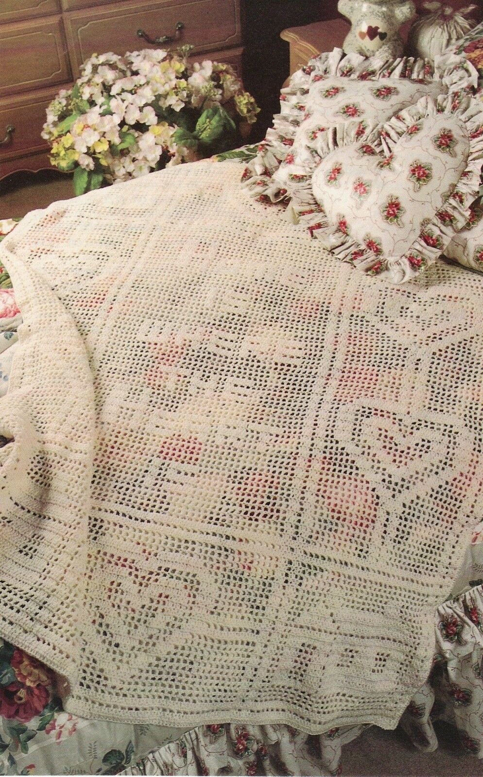 SWEET HOME IS Where the Heart Is Afghan/Crochet Pattern Instructions ...