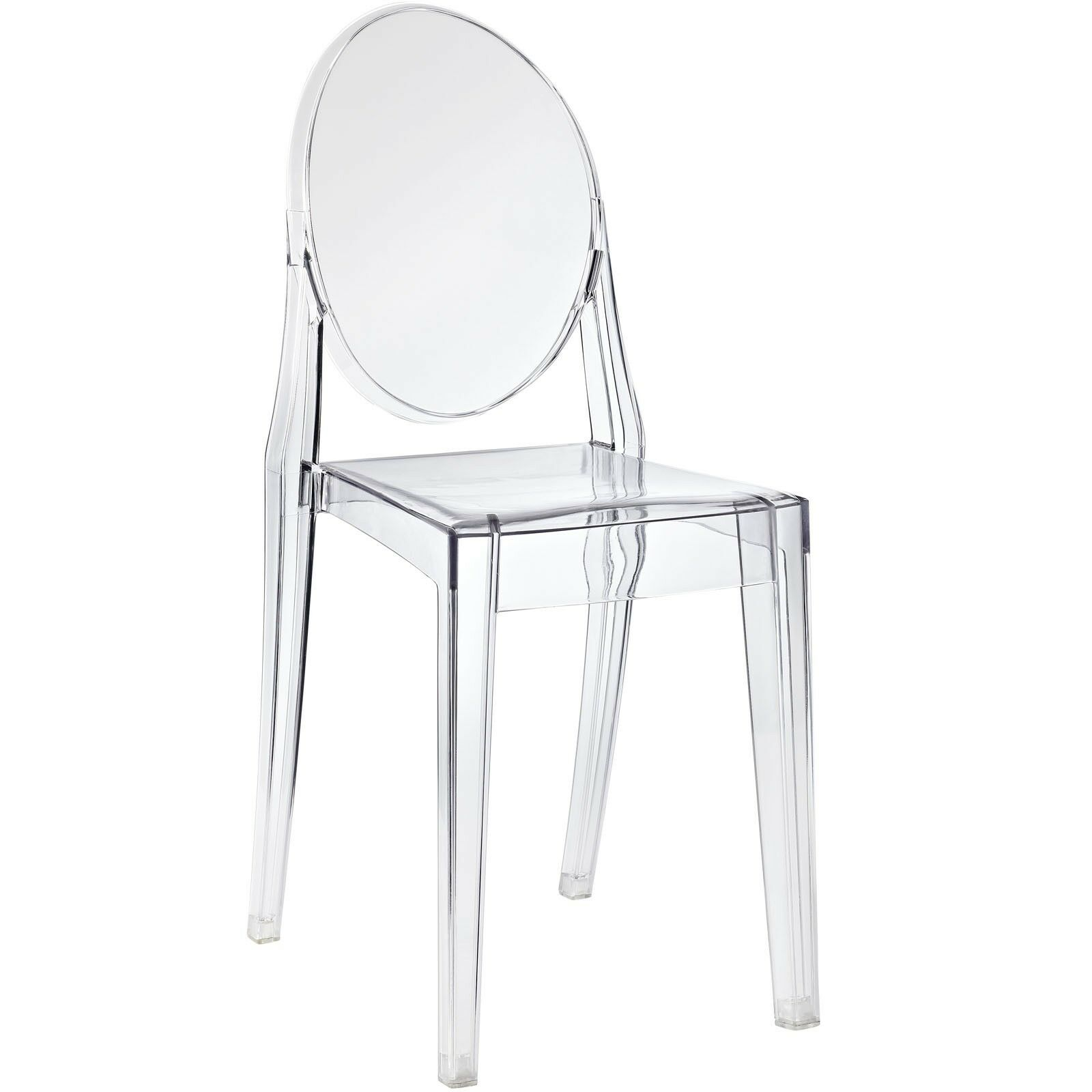 Ghost chair transparent clear acrylic philippe starck for Philippe starck style