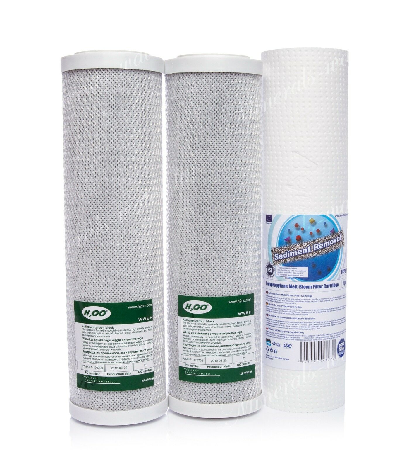 Set Of 2 X Carbon Block And 1 Micron Sediment Filter•reverse Osmosis•replacement
