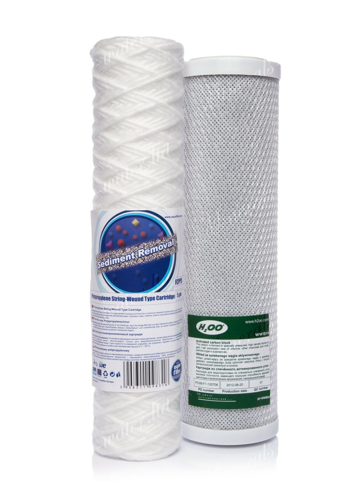 Set Of 5 Micron String Filter And Carbon Filter•reverse Osmosis•replacement•