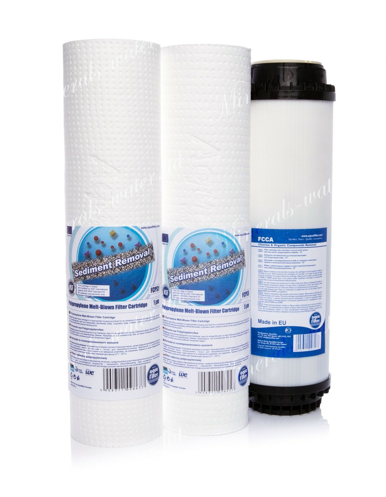 Set Of 1 & 5 Micron Sediment Filter•activated Carbon•reverse Osmosis•replacement