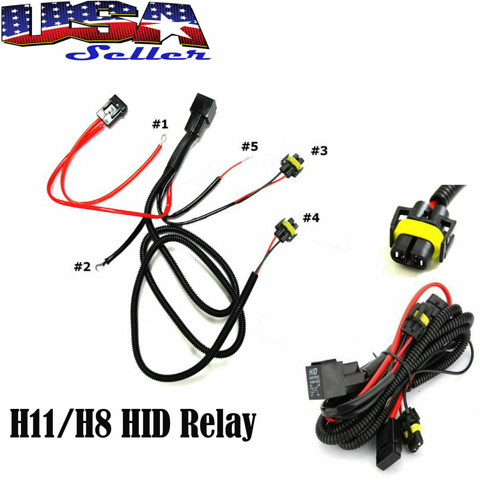 H11 880 Relay Wiring Harness For Hid Conversion Kit Add On Fog Lights 1 Of 6free Shipping