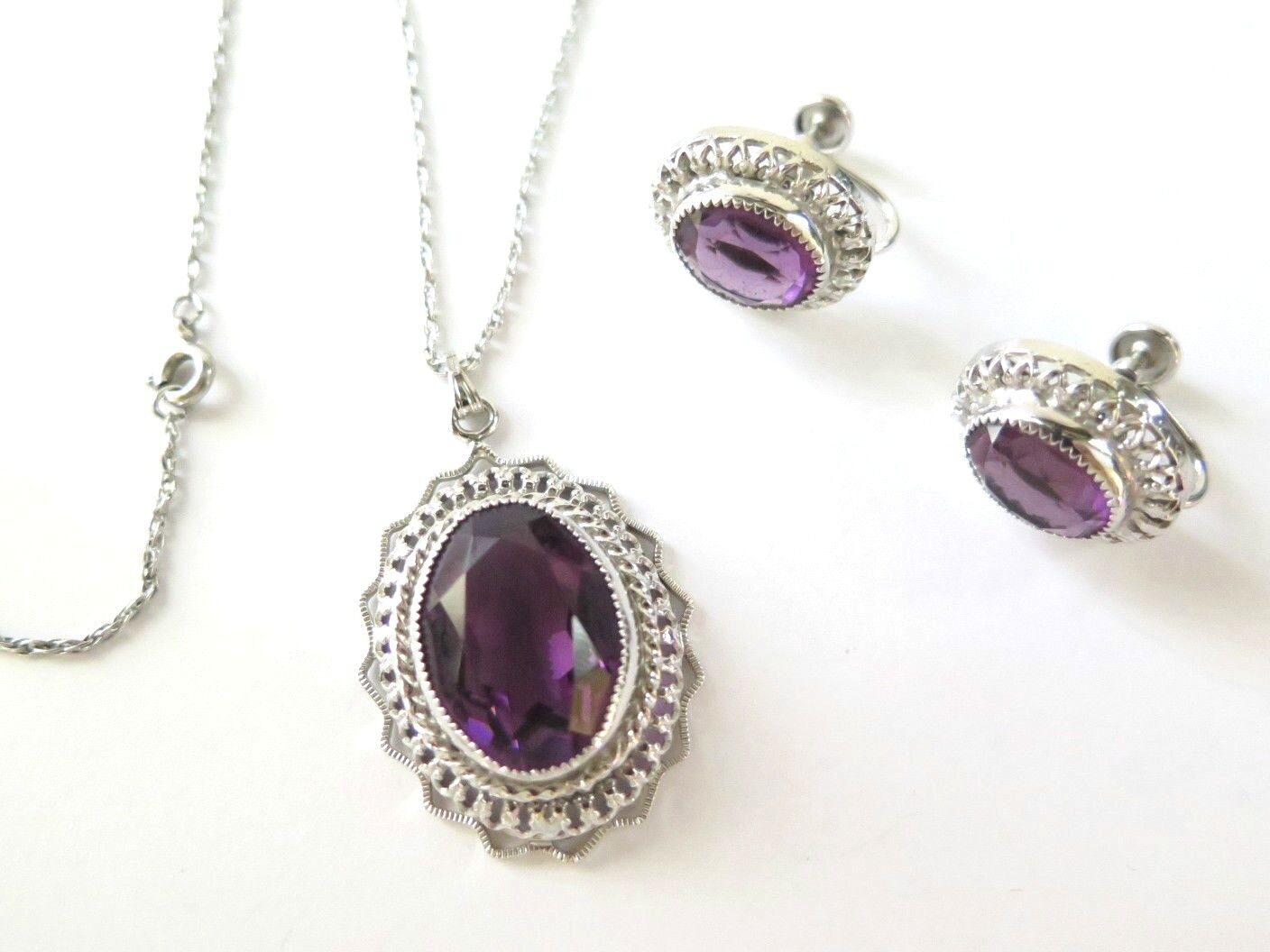 how to clean silver and amethyst necklace