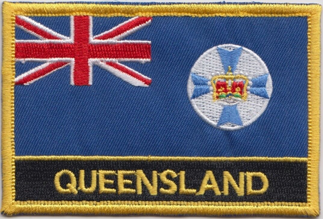 Australia queensland state flag embroidered patch badge