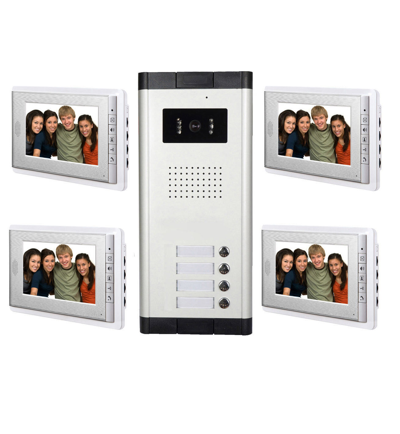 2 12 unit wired apartment video intercom doorbell