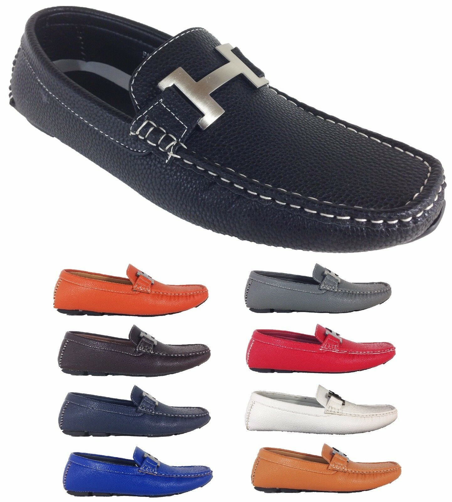 Men Brixton New Leather Driving Casual Shoes Moccasins Slip On D Island Mocasine Loafers Black Pyne03 1 Of 1free Shipping See More