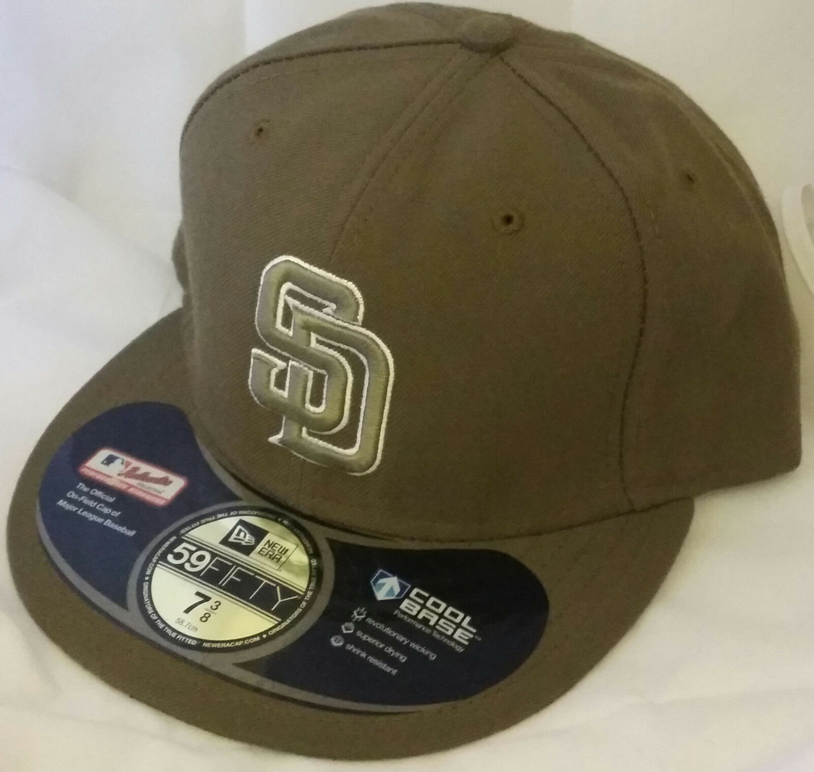 online store fa3f0 fbb57 NWT NEW ERA San Diego PADRES CA SD 59FIFTY size fitted baseball cap hat mlb  1 of 3 ...
