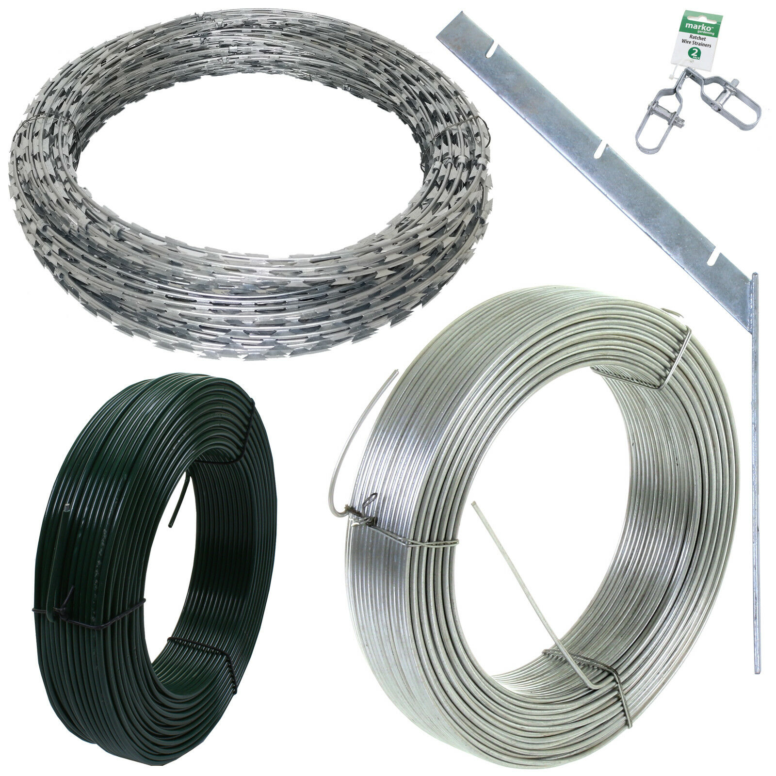 RAZOR Wire Fencing Strainers Bracket Tensioning Security Fence ...