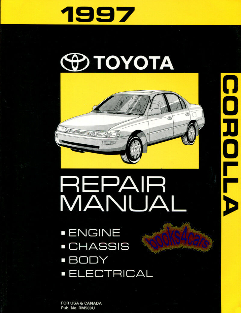 Shop Manual Corolla Service Repair 1997 Toyota Book 1 of 1Only 5 available  ...
