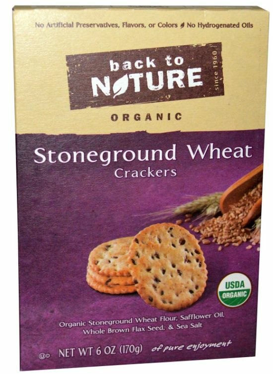 New Back To Nature Organic Stoneground Wheat Crackers Food Groceries Daily Care