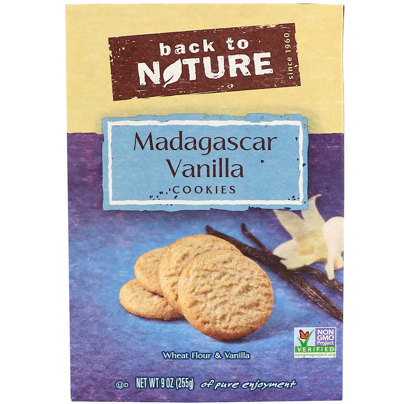 New Back To Nature Madagascar Vanilla Wafers Whole Grain Food Groceries Snacks