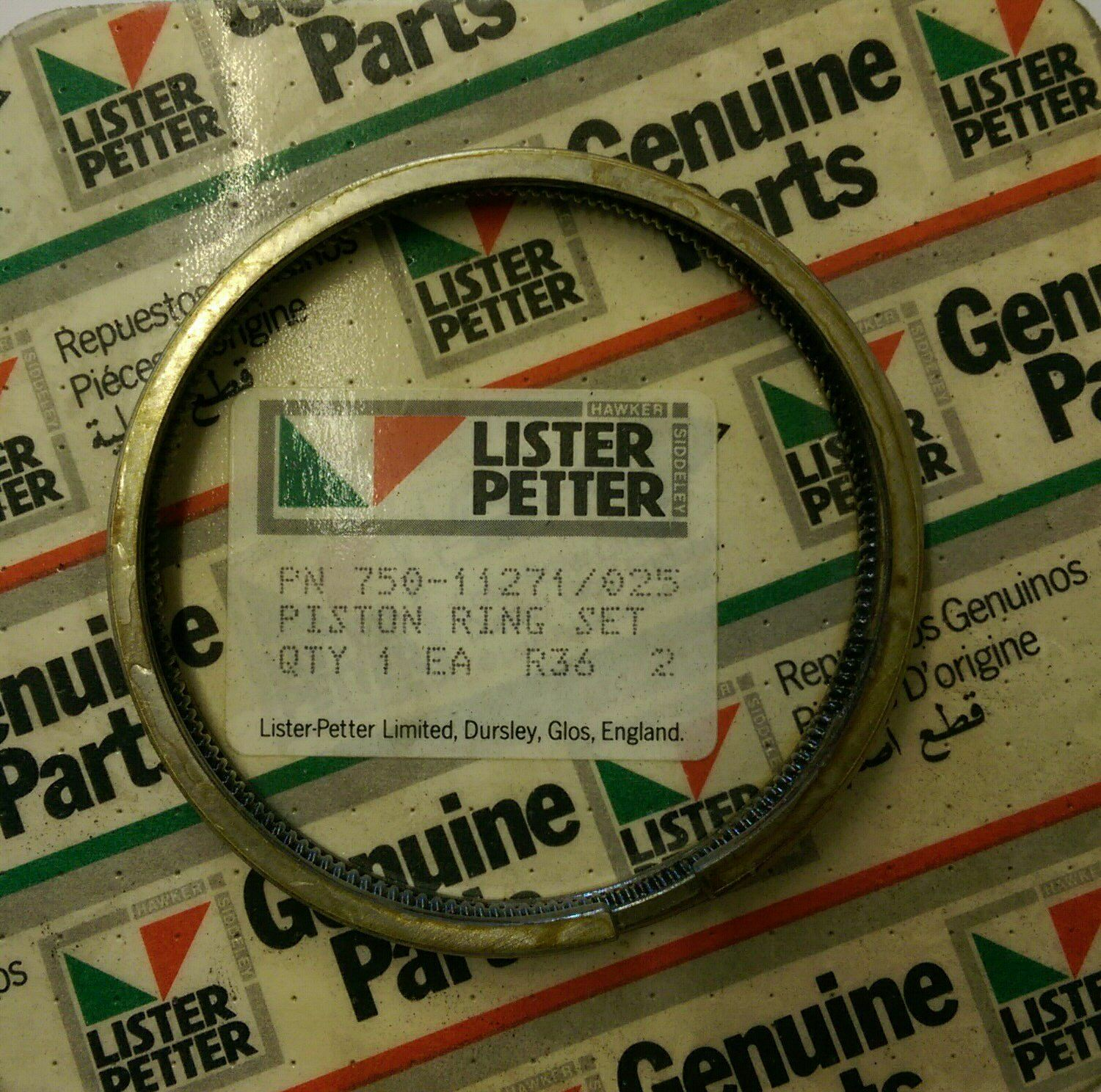 Lister Petter Piston Ring Set 025mm For Early Lpa2 Lpa3 Engines Engine Diagram 1 Of 1only Available