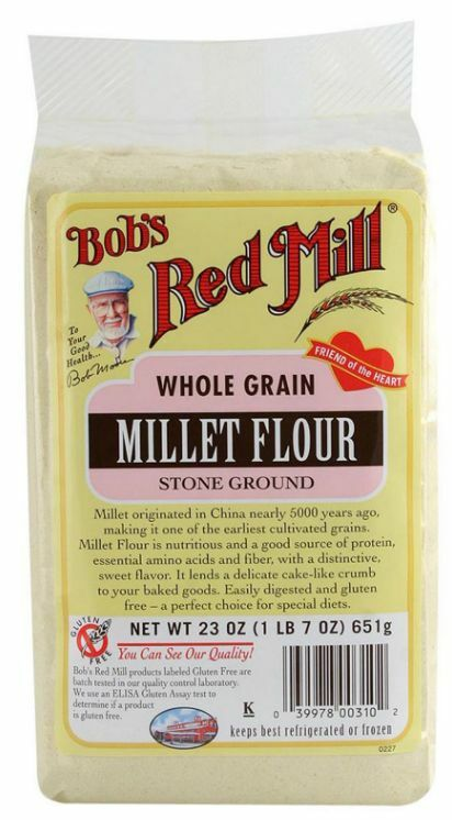 New Bob's Red Mill Whole Grain Millet Flour Stone Ground Gluten Free Natural