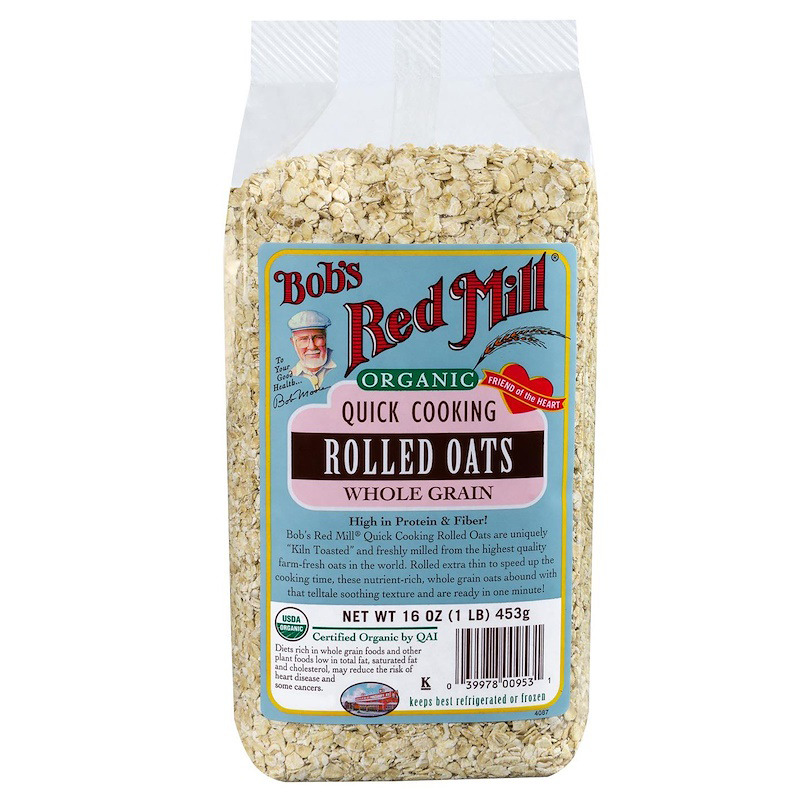 New Bob's Red Mill Organic Quick Cooking Rolled Oats Whole Grain Breakfast Foods