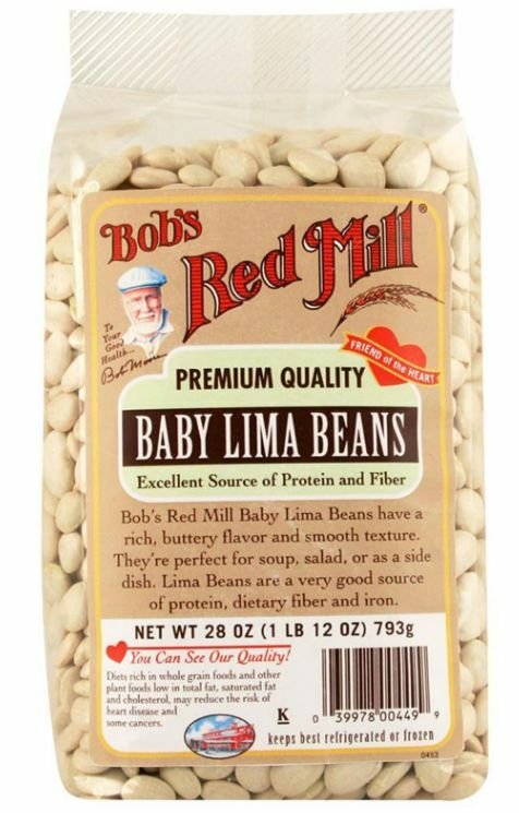 New Bob's Red Mill Baby Lima Beans Protein Fiber & Iron Source Cooking Healthy