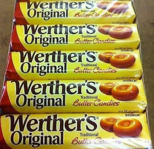 Werthers Butter Candy Rolls - Full Box Of 24