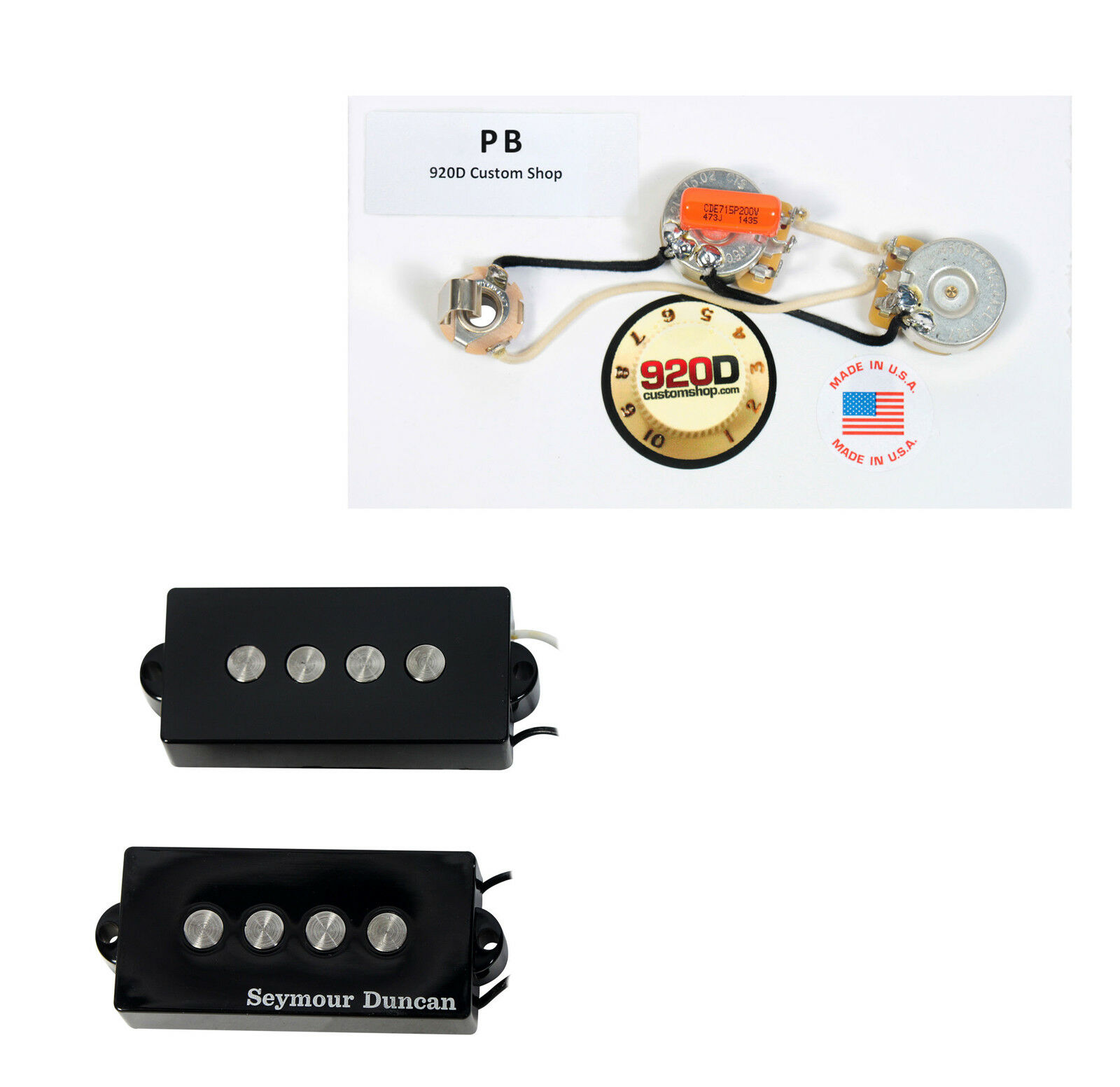 Seymour Duncan Spb 3 Fender P Bass Guitar Pickup Black Wiring A Harness 1 Of 4only Available See More