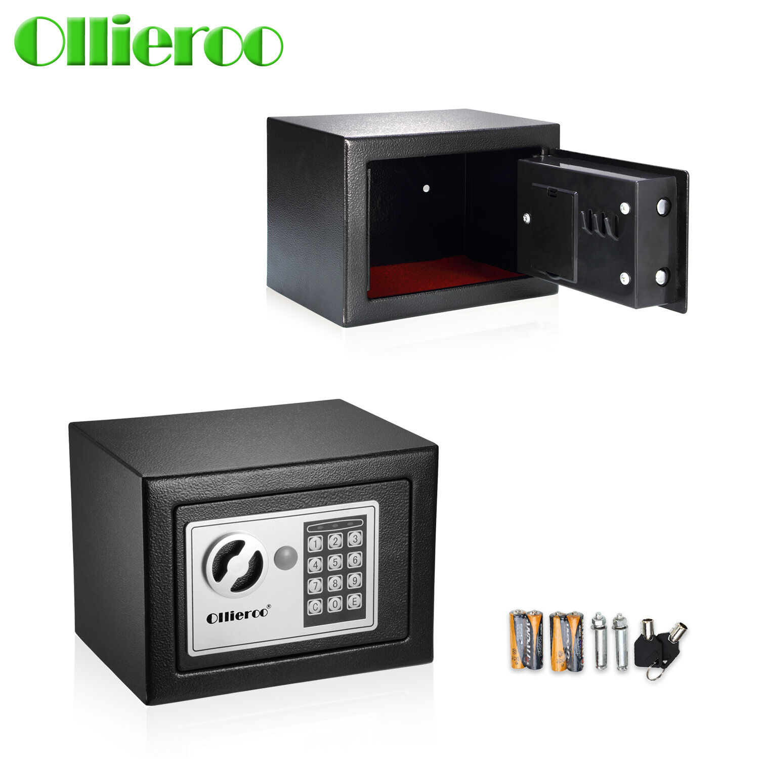 Ollieroo small digital electronic safe box keypad lock for Small safe box for home