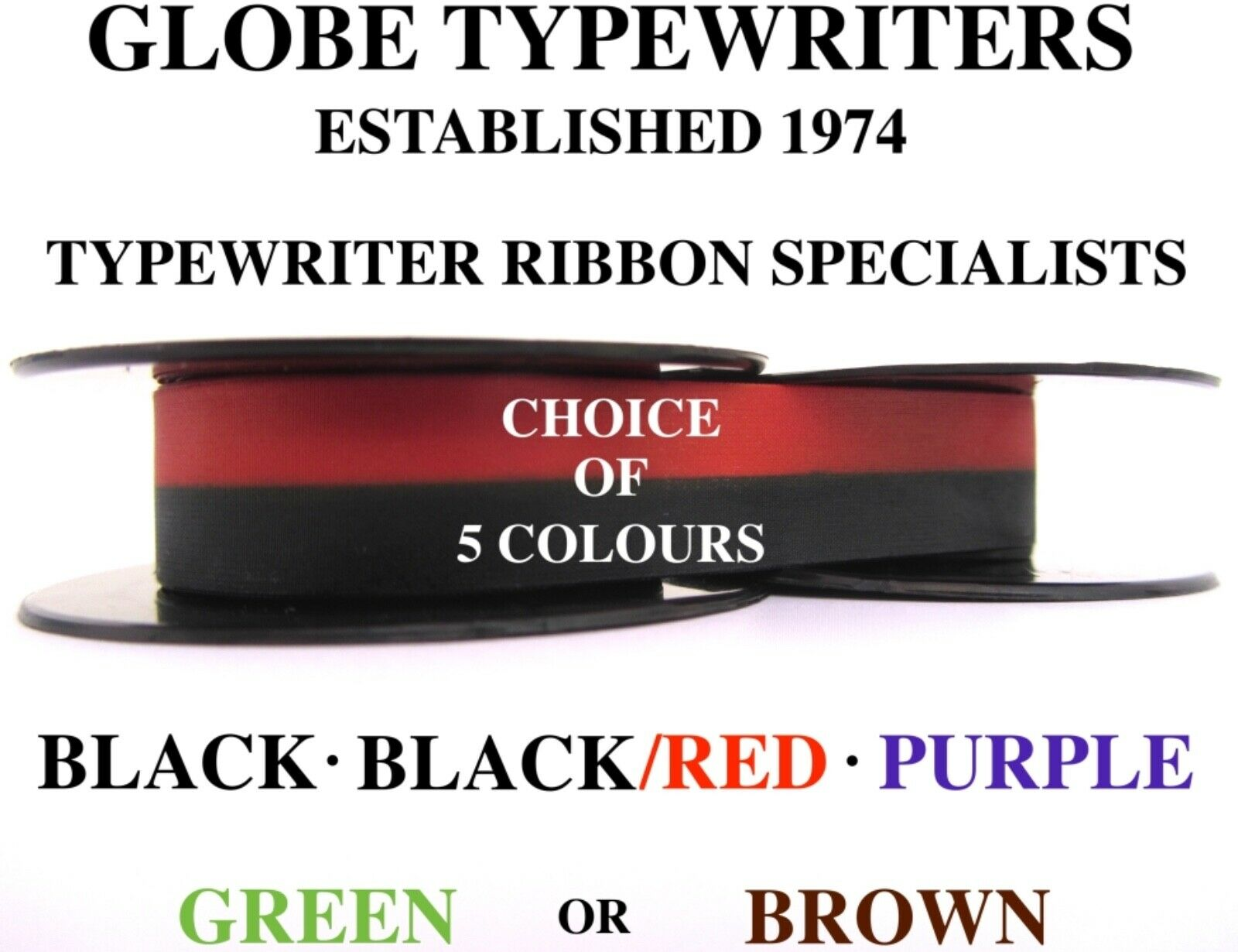 'facit 1620' Top Quality *10 Metre *black/*black/red/*purple* Typewriter Ribbon