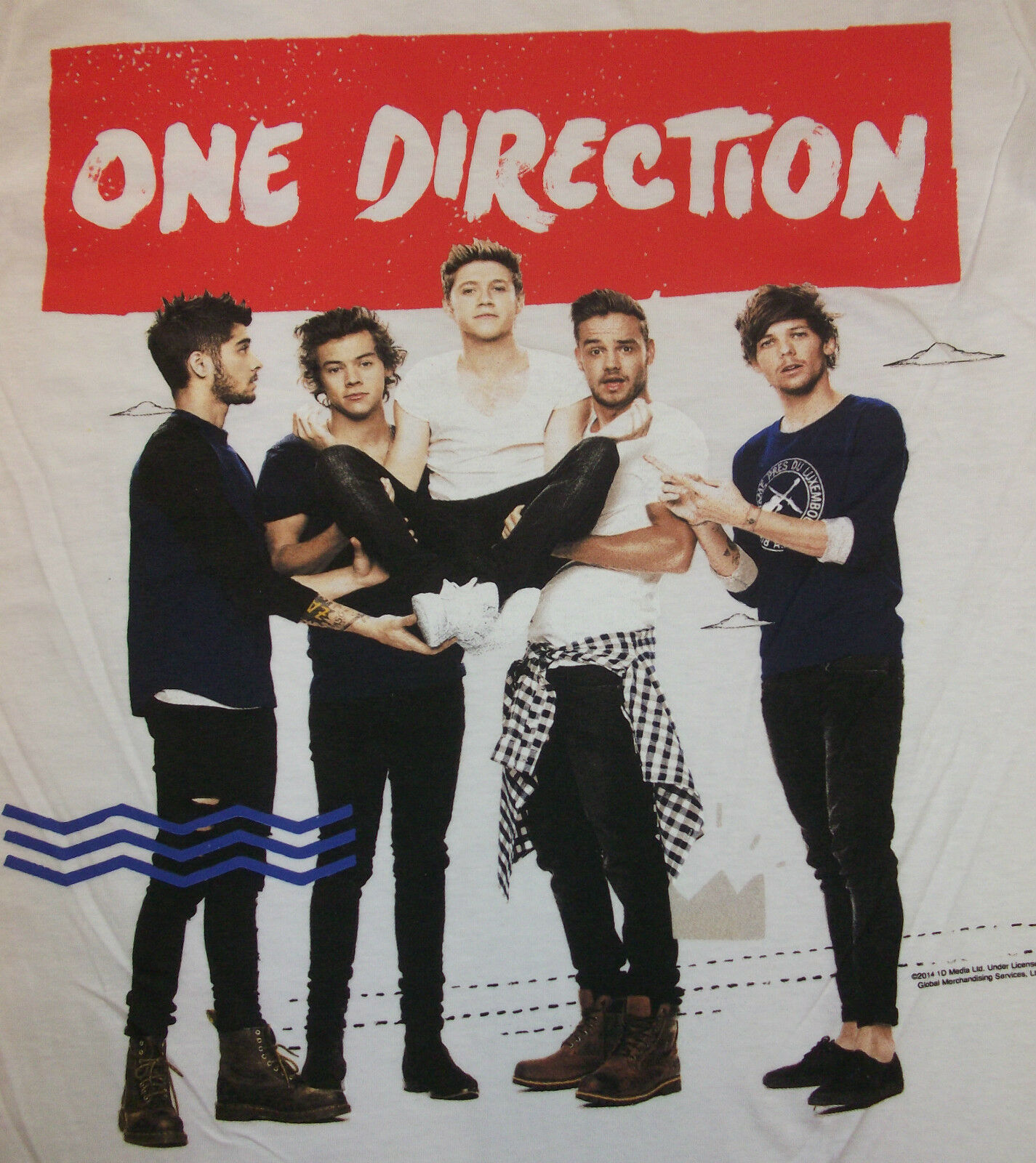 one direction where we are tour 2014 tshirt with zayn