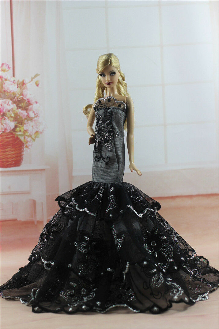 BLACK ROYALTY MERMAID Dress Party Dress/Wedding Clothes/Gown For ...