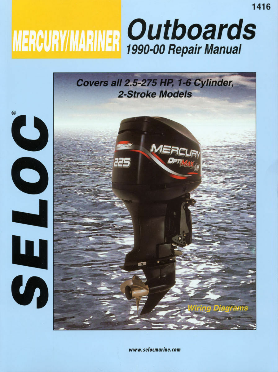 Seloc Marine Shop Repair Manual #1416 Mercury Mariner 2 Stroke Outboards  1990-00 1 of 1FREE Shipping See More