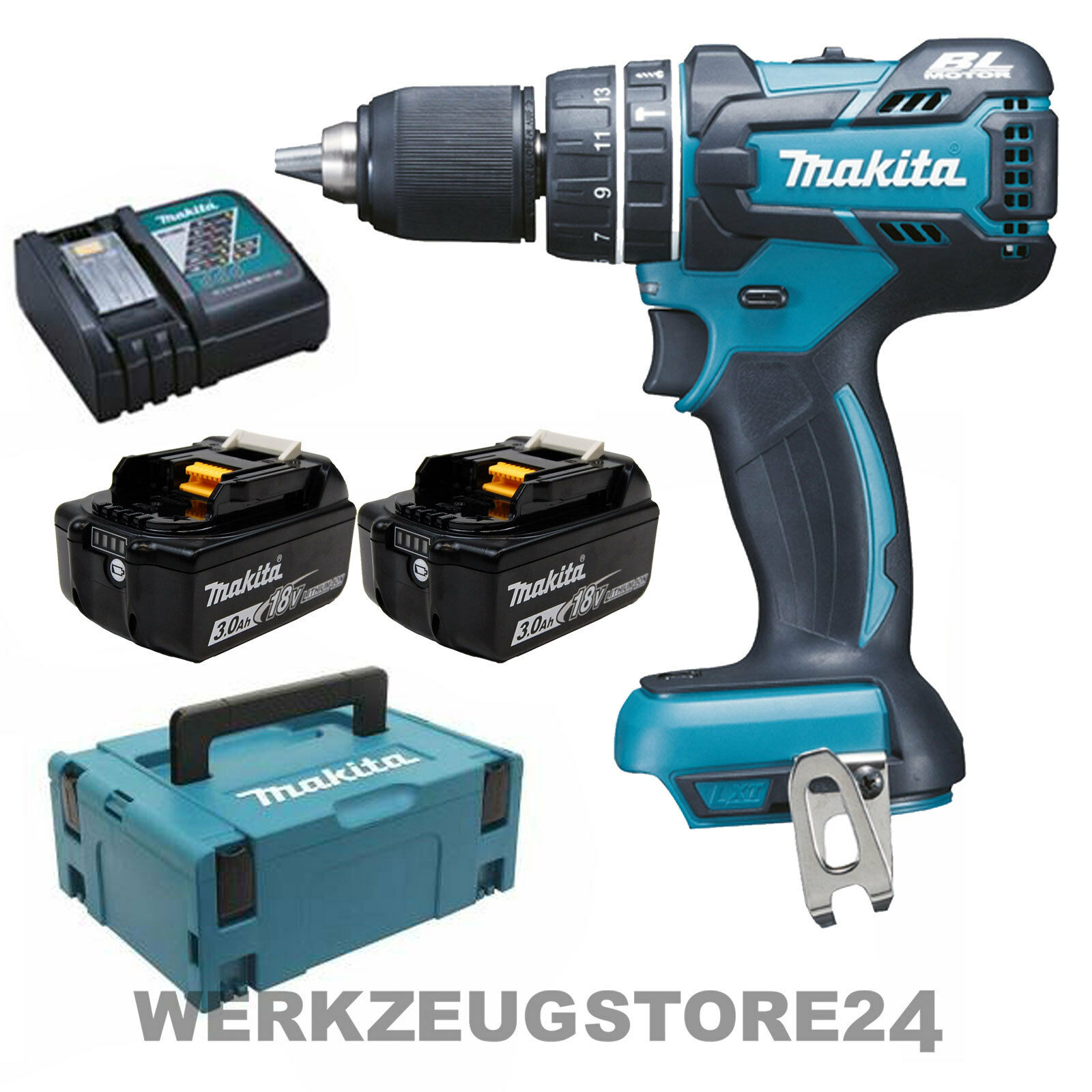 makita dhp480rfj akku schlagbohrschrauber 18v 2x 3 0ah akku ladeger t makpac eur 279 00. Black Bedroom Furniture Sets. Home Design Ideas