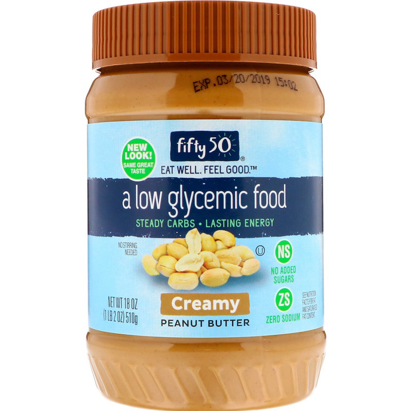 New Fifty 50 Low Glycemic Peanut Butter Crunchy Daily Natural Creamy Daily Foods