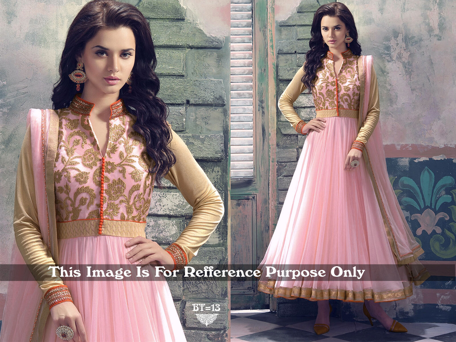New Bollywood Anarkali style Indian/Pakistani Party Wear Salwar Kameez suit