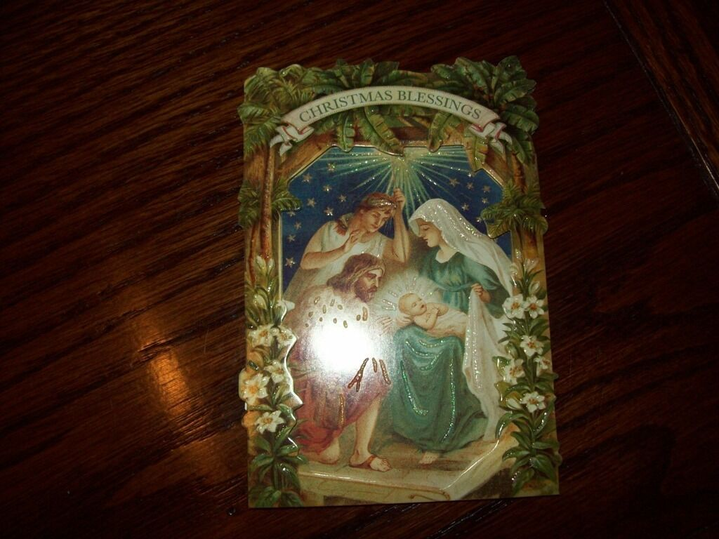 NEW BOXED PUNCH Studio Psalms Nativity Emb Holiday Christmas Cards ...
