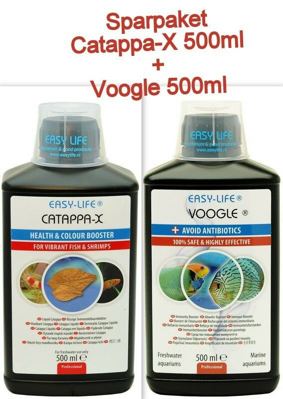 Easy Life Catappa-X 500ml + Easylife Voogle 500ml Antibiotika-Ersatz  Sparpaket