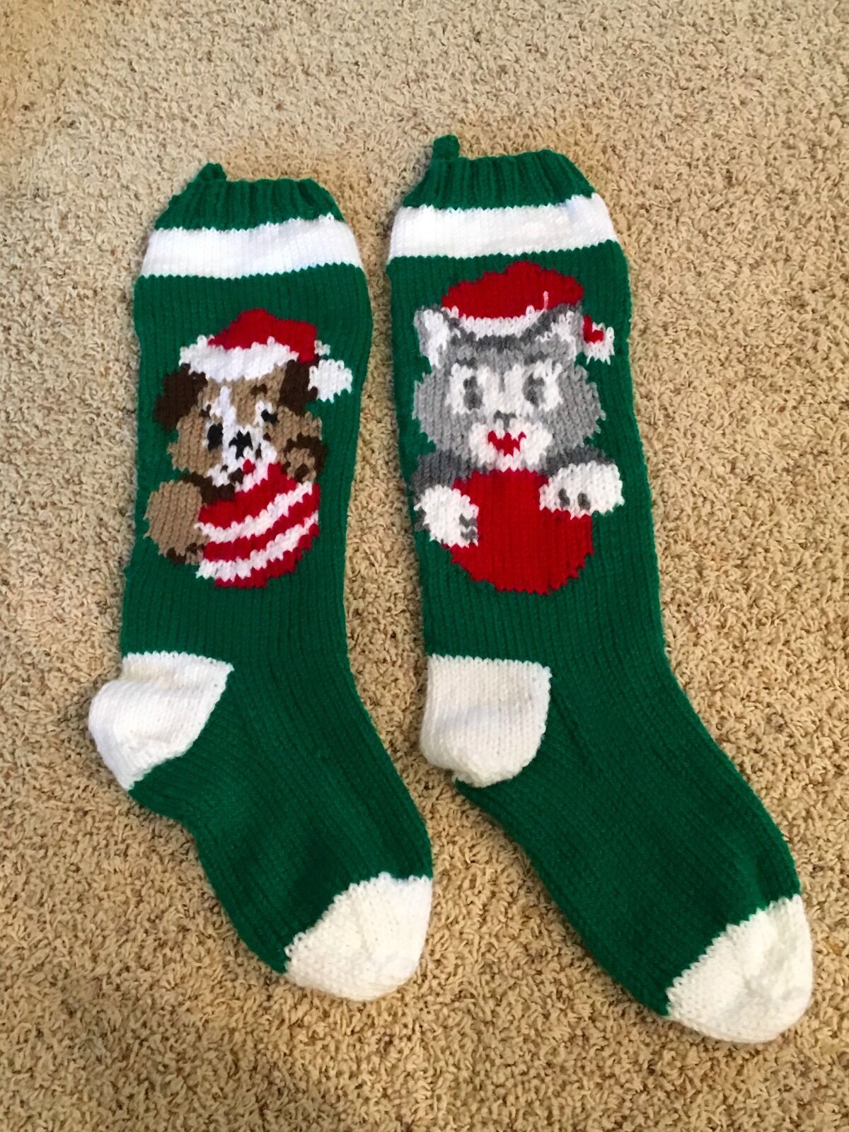 PERSONALIZED HAND KNIT Christmas Stocking - $40.00 | PicClick