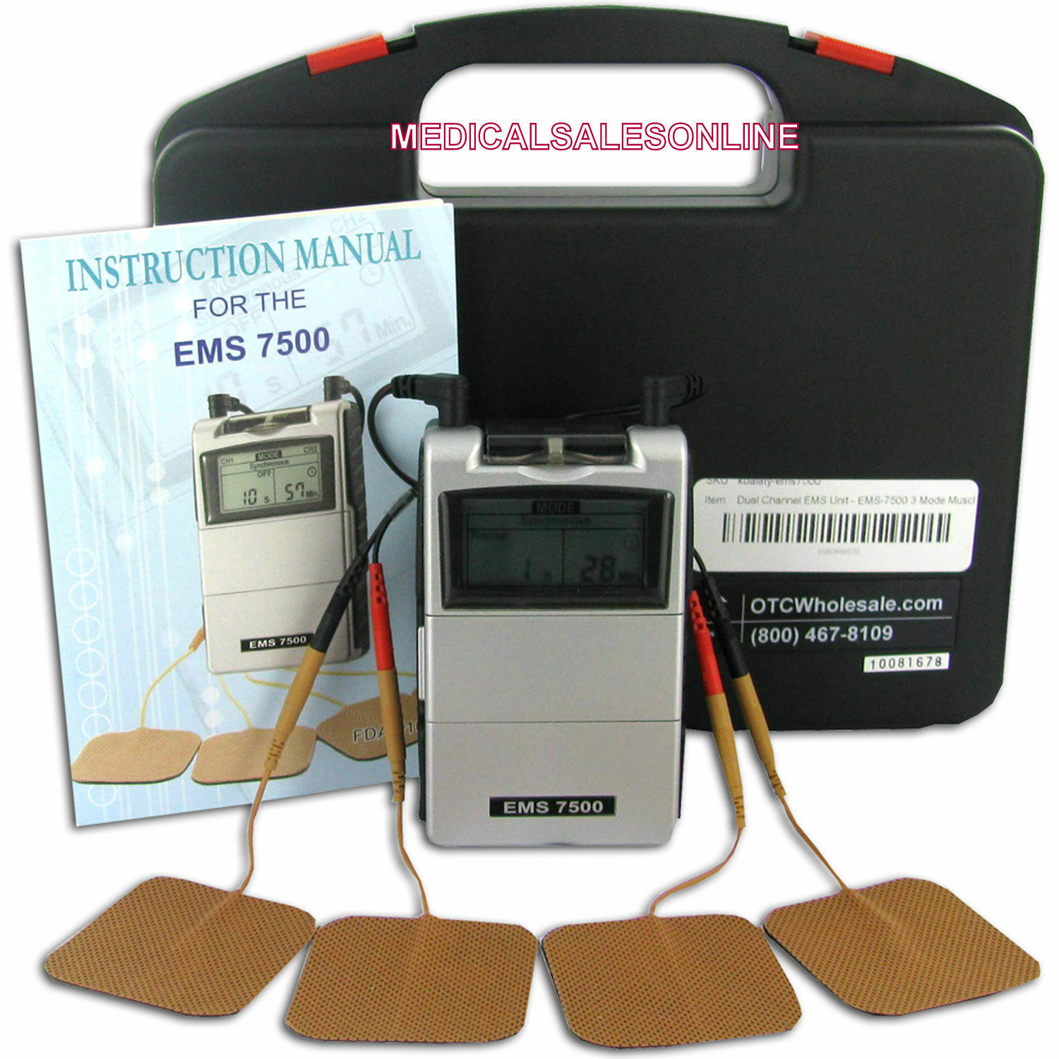 Ems 7500 Muscle Stimulation Therapy Machine Back Chronic Pain Relief