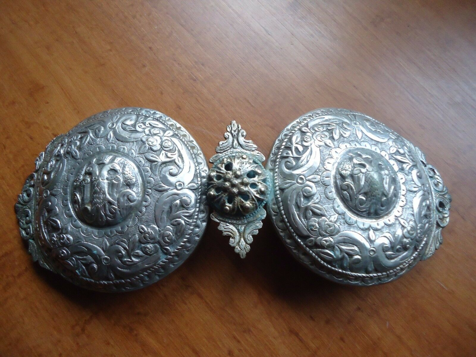 Antique ottoman jewelry silver alloy belt buckle