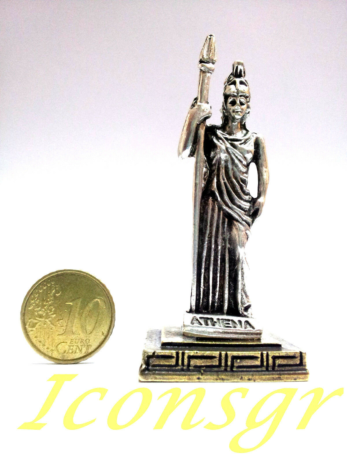 Ancient Greek Miniature Olympian God Pantheon Sculpture Statue Zamac Athena S